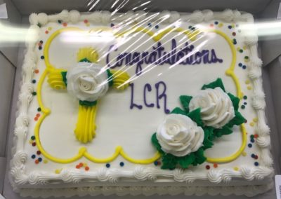 LCR Mortage Burning Celebration Cake