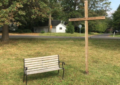 cross-and-bench
