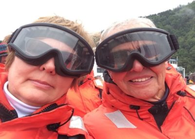 pastor kristina and lars skiing